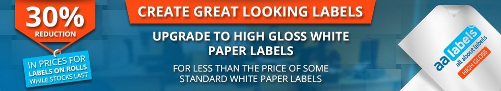 30% reduction on high gloss white