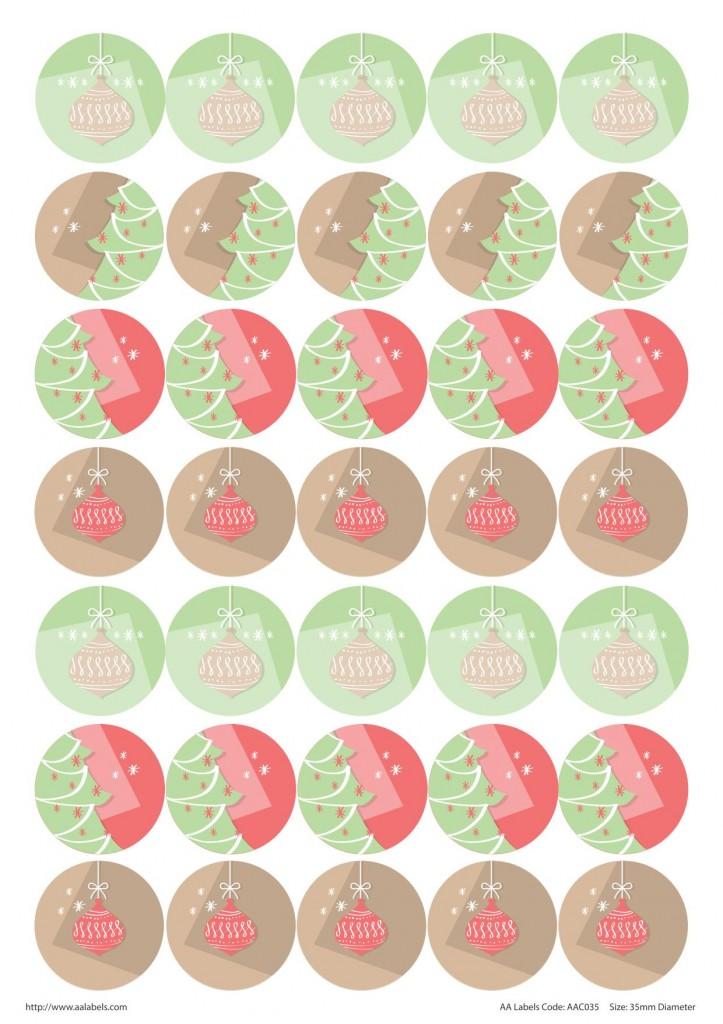 Christmas stickers / envelope seals