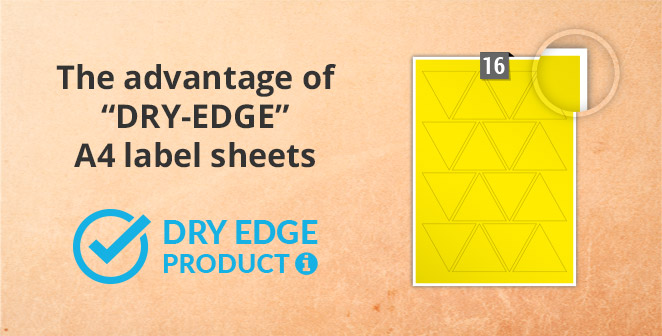 The Advantage of Dry-Edge A4 label sheets