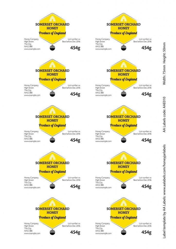 jar04 Honey Jar Label Image