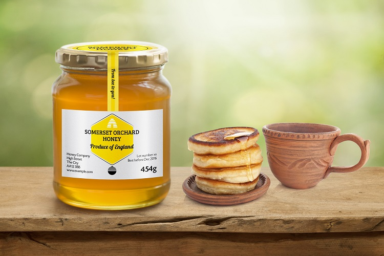 Curved Honeycomb Label Design Mock Up