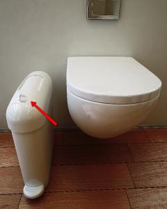 label used on a hygiene bin