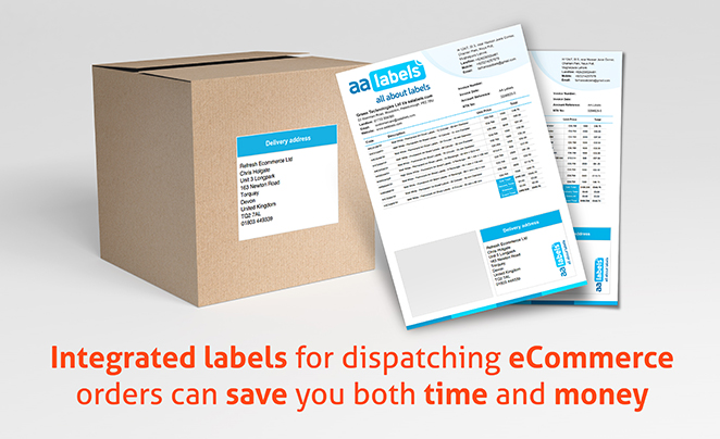 How using integrated labels for dispatching eCommerce orders can save you both time and money