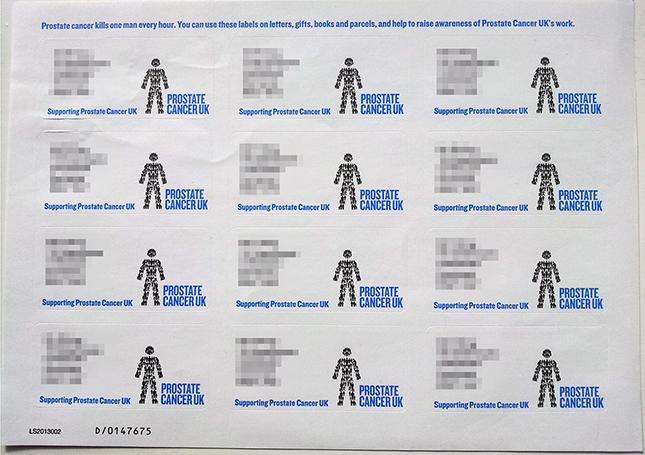 prostate cancer address labels