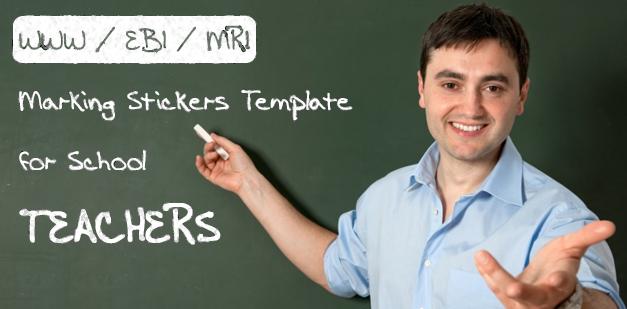 WWW / EBI / MRI Marking Stickers Template for School Teachers