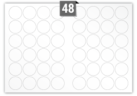 48 Circular Labels per A3 sheet