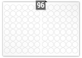 96 Circular Labels per A3 sheet
