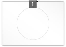 1 étiquette  cercle par feuille -  220 mm Diamètre