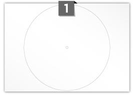 1 étiquette  cercle par feuille -  290 (8) mm Diamètre