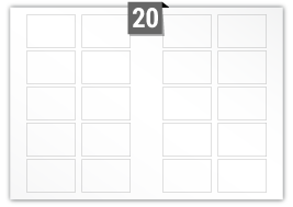 20 Rectangle Labels per A3 sheet