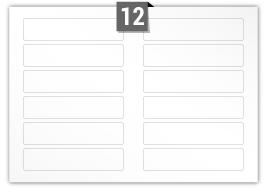 12 étiquettes  rectangulaires par feuille -  170 mm x 37 mm