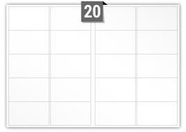 20 étiquettes rectangulaires par feuille -  99.1 mm x 57.3 mm