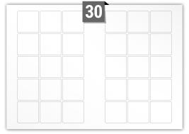 30 étiquettes  carré par feuille -  50.5 mm x 50.5 mm