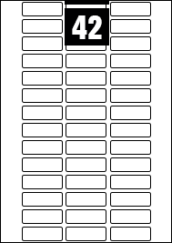 42 Rectangle Labels per A4 sheet