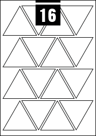 16 Triangle Labels per A4 sheet
