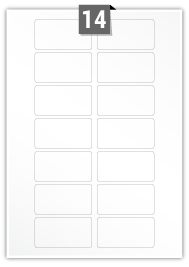 14 Rectangle Labels per A4 sheet