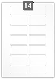 14 Rectangle Labels per A4 sheet