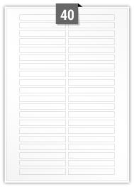 40 étiquettes  rectangulaires par feuille -  80 mm x 10 mm