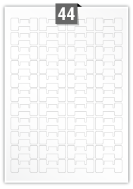 44 Irregular Labels per A4 sheet