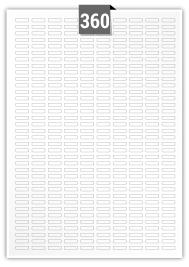 360 étiquettes  rectangulaires par feuille -  16 mm x 4 mm