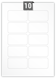 10 Rectangle Label per A4 sheet