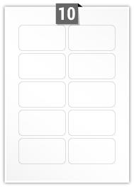 10 Rectangle Label per A4 sheet