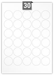 30 Circular Labels per A4 sheet