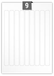 9 Rectangle Labels per A4 sheet