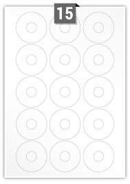 15 Circle Labels per A4 sheet