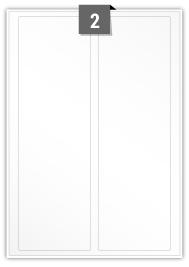 2 étiquettes rectangulaires par feuille -  88 mm X 285 mm