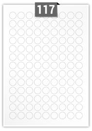 117 Circular Labels per A4 sheet