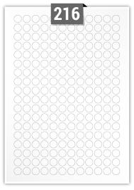 216 Circular Label per A4 sheet