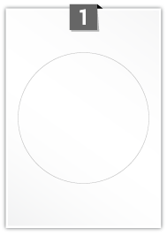 1 Circular Label per A4 sheet - 175 mm Diameter