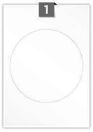1 étiquette cercle par feuille -  175 mm Diamètre