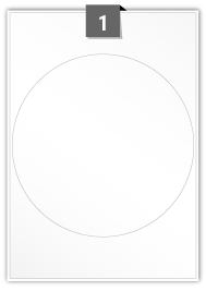 1 Circular Label per A4 sheet