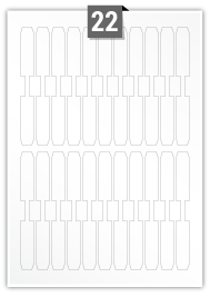 22 Irregular Labels per A4 sheet