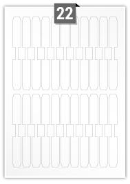 22 étiquettes irreguliere par feuille -  14 mm x 129 mm