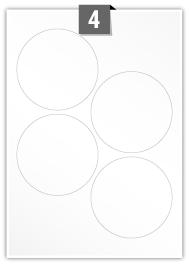 4 Circular Labels per A4 sheet