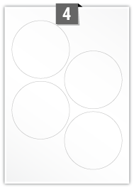 4 Circular Labels per A4 sheet