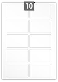 10 étiquettes rectangulaires par feuille -  87.2 mm X 52.7 mm