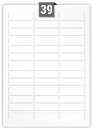 39 Rectangle Labels per A4 sheet