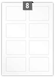 8 Rectangle Labels per A4 sheet