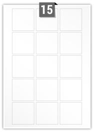 15 étiquettes carre par feuille -  55 mm x 55 mm