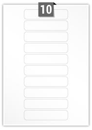 10 étiquettes rectangulaires par feuille -  110 mm x 25 mm