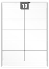 10 étiquettes rectangulaires par feuille -  104 mm x 50 mm