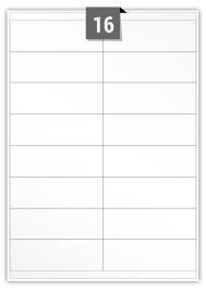 16 étiquettes rectangulaires par feuille -  104 mm x 35 mm