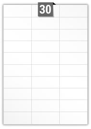 30 étiquettes  rectangulaires par feuille -  69.333 mm x 29.5 mm