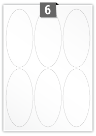 6 Oval Labels per A4 sheet