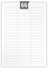 66 Rectangle Labels per A4 sheet