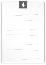 4 étiquettes  irrégulière par feuille -  160.538 mm x 53.709 mm